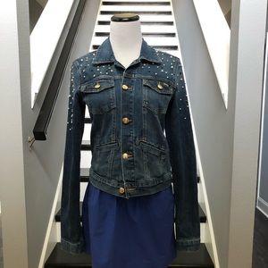 Juicy Couture Denim Embellished Jacket S